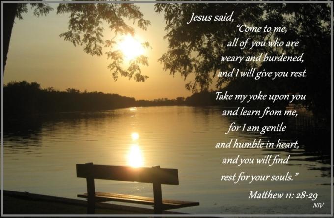 Matthew 11 28 29