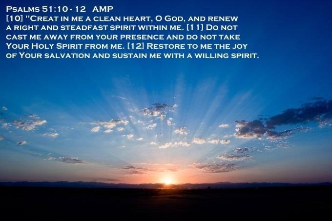 Psalms 51. 10-12 05-18-2020