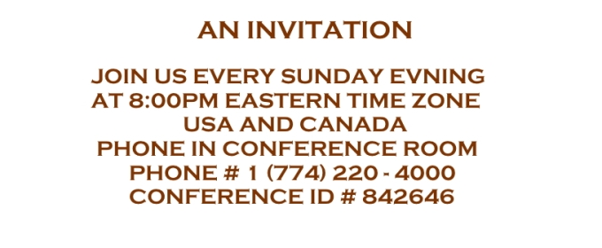 AN INVITATION Message