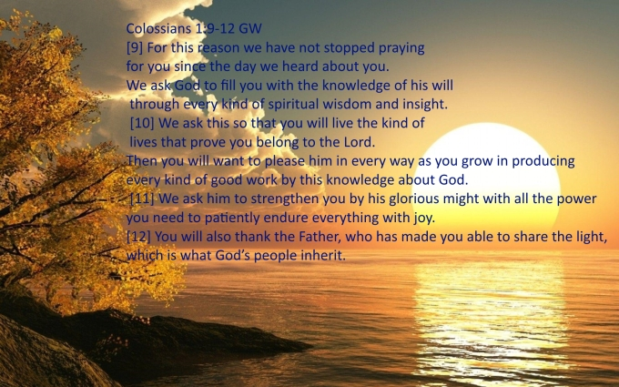 Colossians 1 9 12 07-24-2020