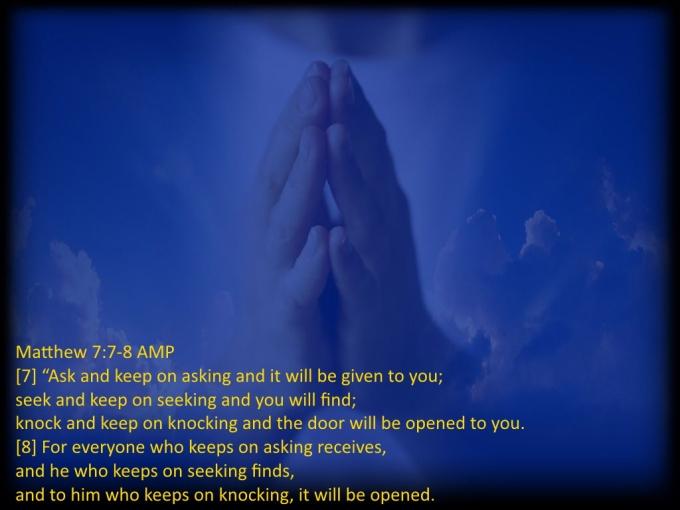 Matthew 7 7 8 07-28-2020