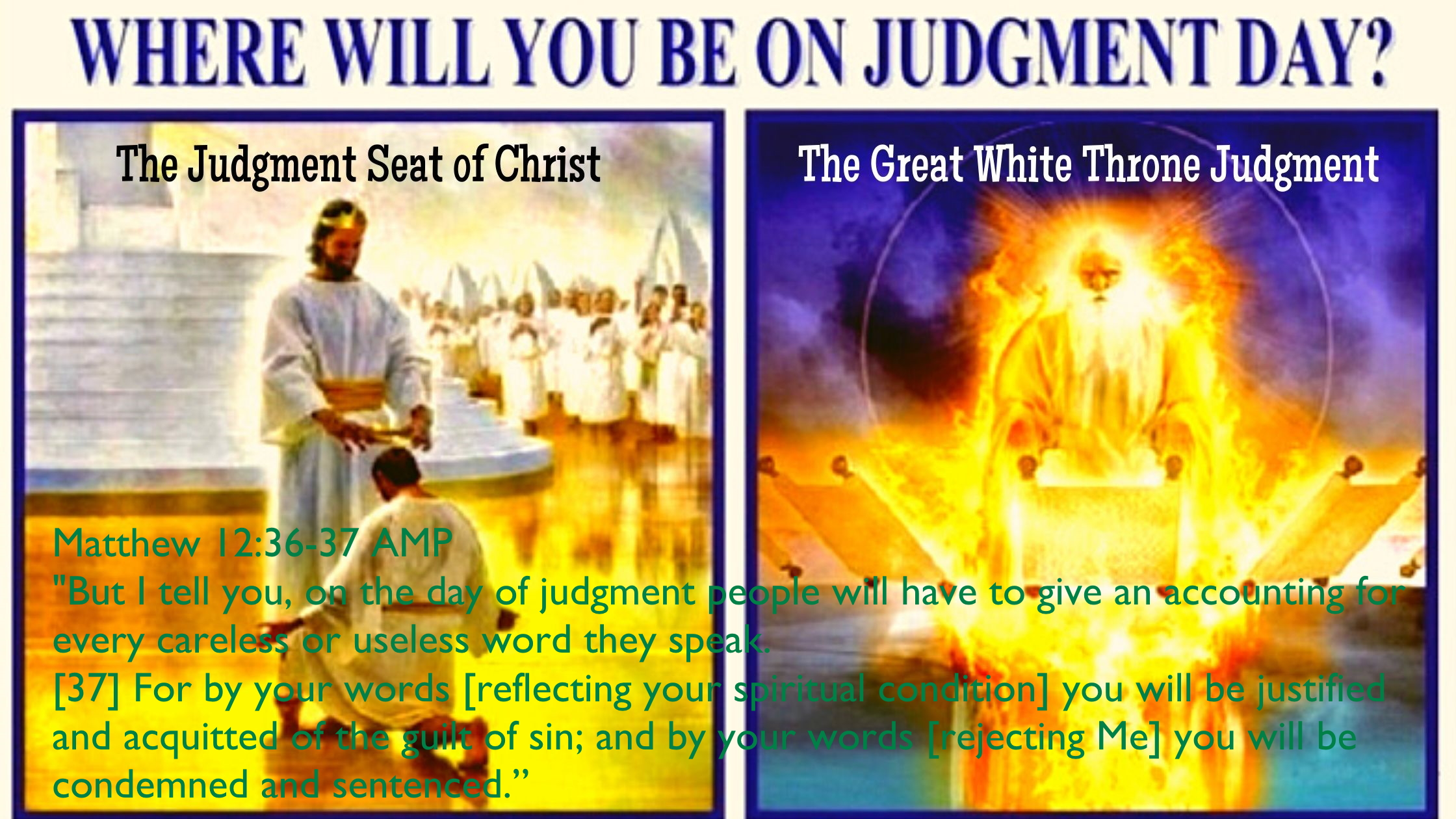 Matthew 12 36-37 08-13-2020