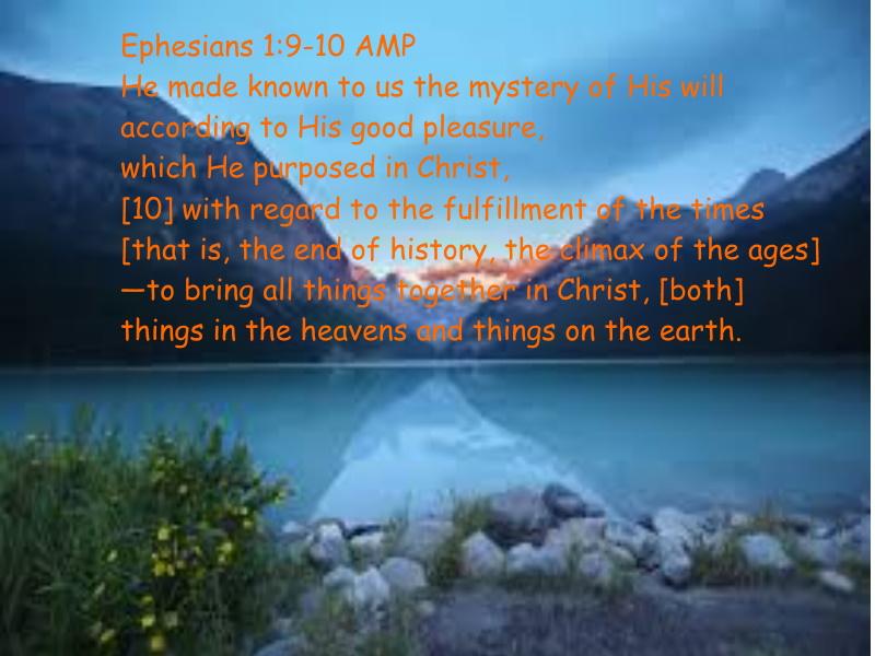 Ephesians 1 9-10 10-18-2020