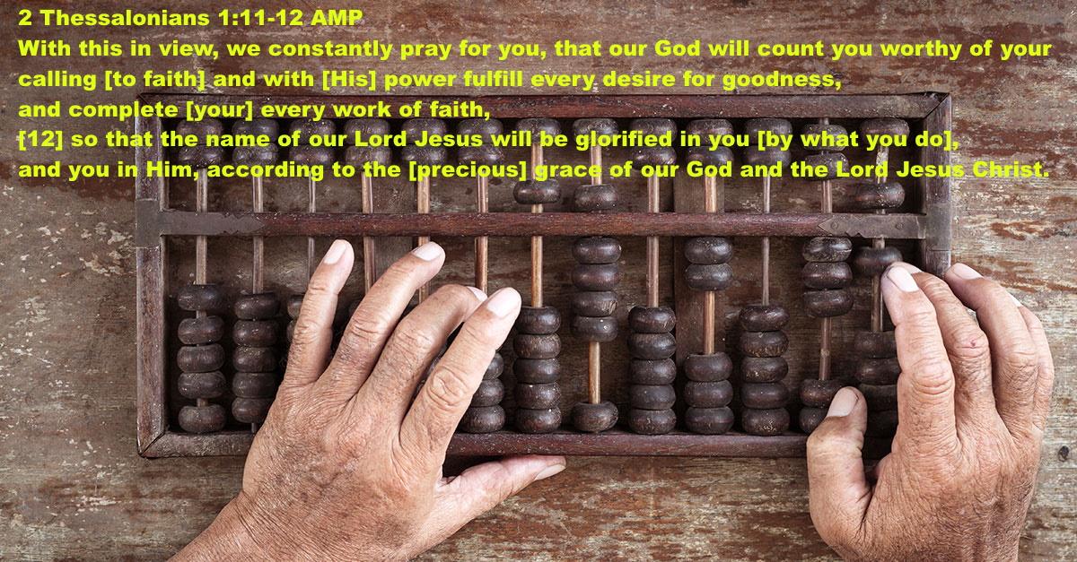 2 Thessalonians 1 11-12